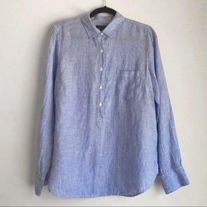 J Crew • Blue & White Striped Button Down Shirt